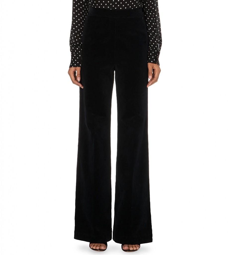 ALEXA CHUNG FOR AG The Laura flared high-rise jeans     £230 click to visit Selfridges