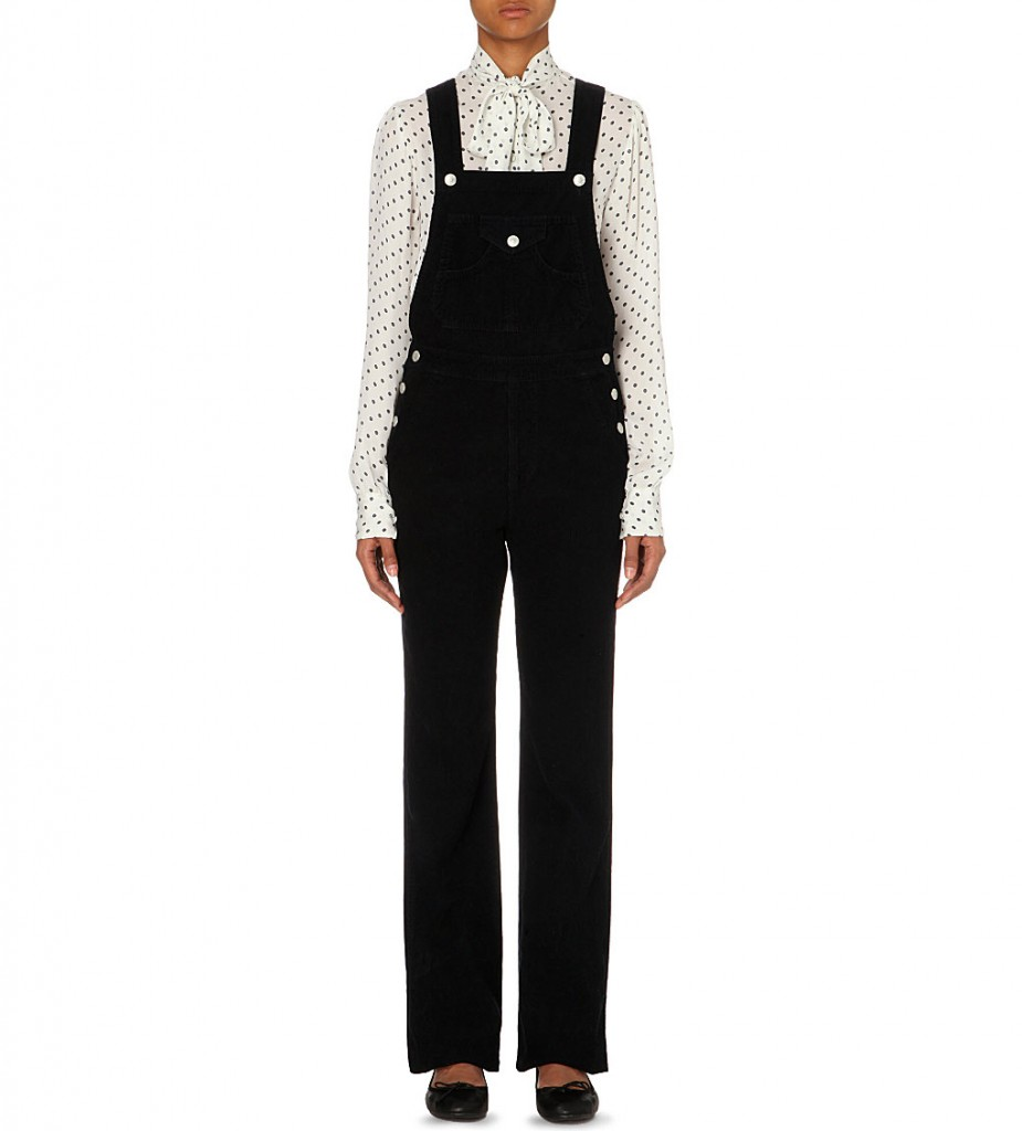 ALEXA CHUNG FOR AG The Bunny corduroy jumpsuit     £325 click to visit Selfridges