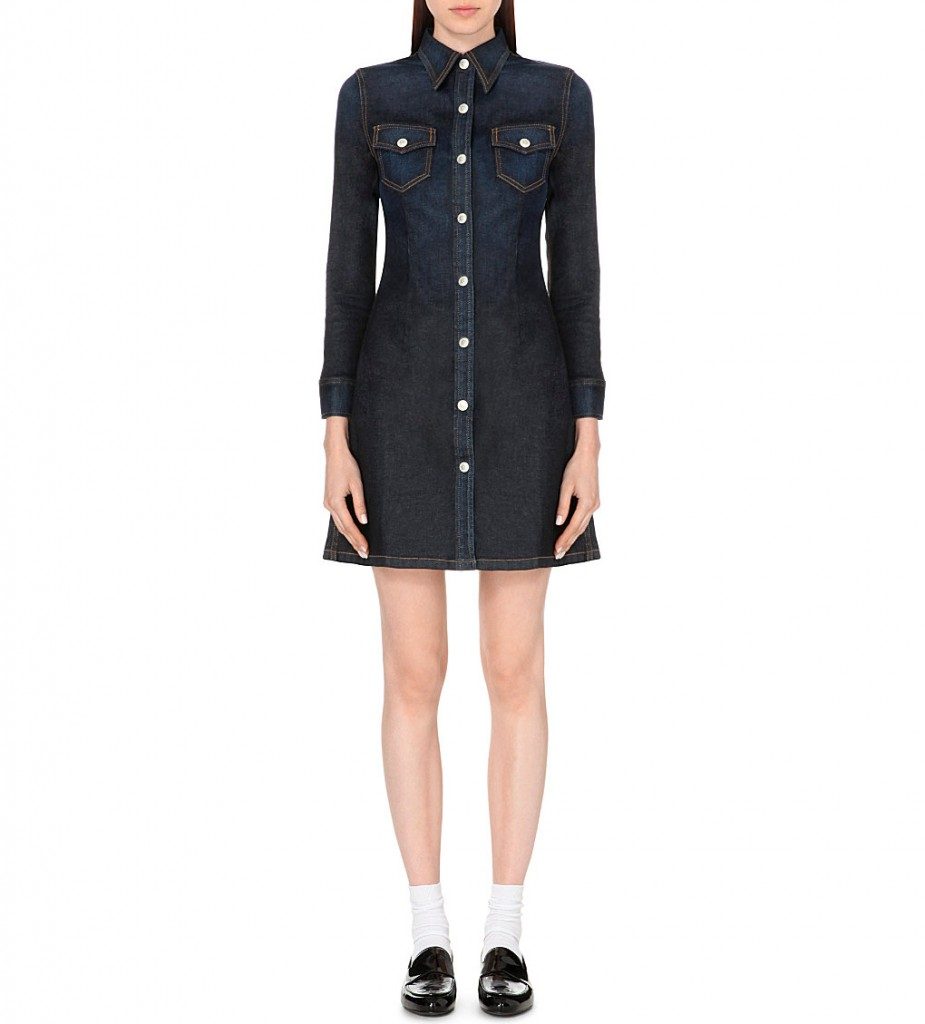 ALEXA CHUNG FOR AG Pixie button-up denim dress     £325 click to visit Selfridges