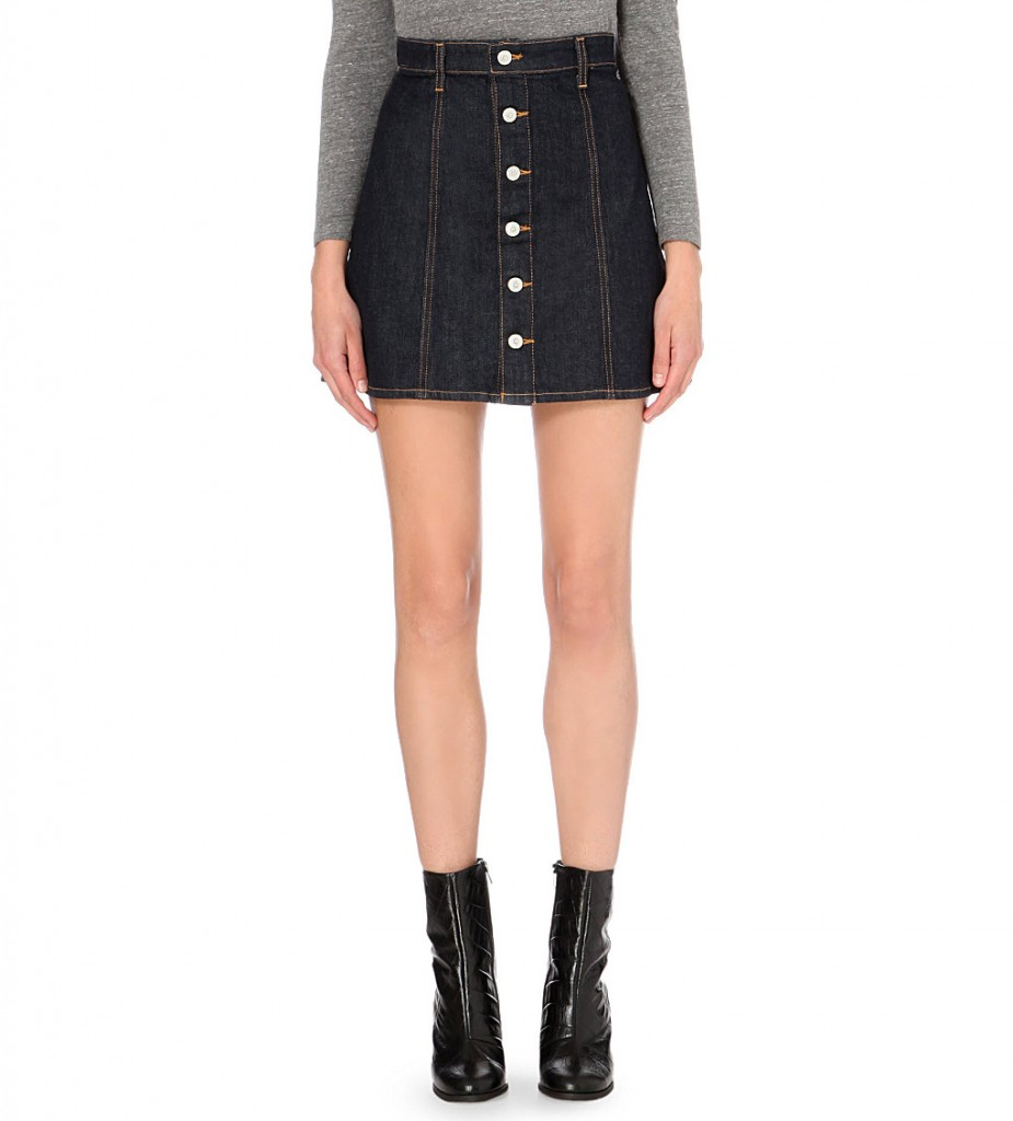 ALEXA CHUNG FOR AG Kety button-up denim skirt     £180 click to visit Selfridges