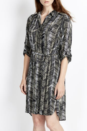 Monochrome Graphic Shirt Dress     Was £40.00 Now £20.00 click to visit Wallis