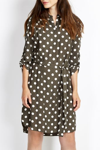 Khaki Spot Shirt Dress     Was £40.00 Now £32.00 click to visit Wallis