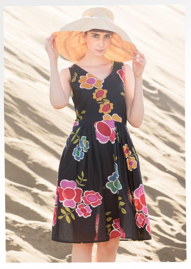 "Florencia"" cotton/silk dress now £85 click to visit Gudrun Sjoden"