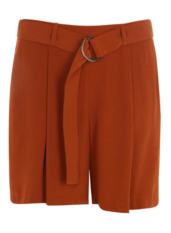 Ginger High Waisted Crepe Shorts     Was £22.00     Now £19.80 click to visit Dorothy Perkins