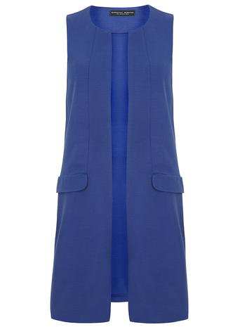 Cobalt Sleeveless Jersey Jacket     Price: £35.00 click to visit Dorothy Perkins