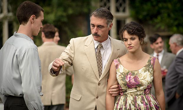 Greg Wise and Jessica Brown Findlay as Gilbert and Alice Aldridge