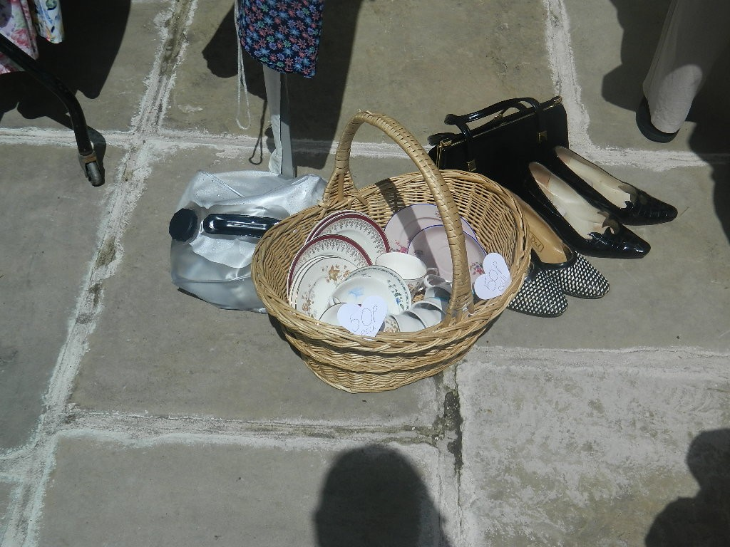 Pottery in the basket was 50p!