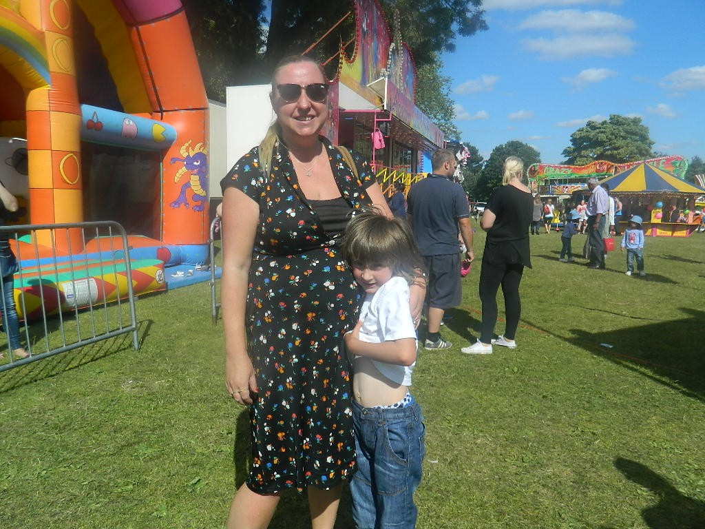 Teamed with a vintage dress for an afternoon at the fair.