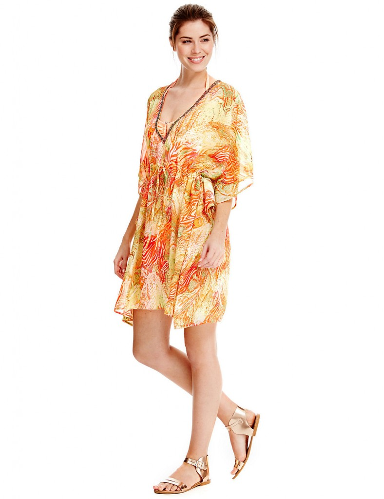 M&S COLLECTION Samba Snake Print Kaftan     £31.60  click to visit M&S