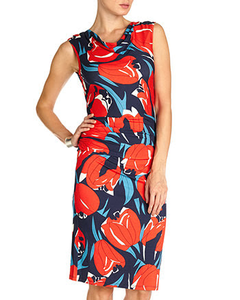 Cora Tulip Dress Sale £49.00 was £79.00  click to visit Coast