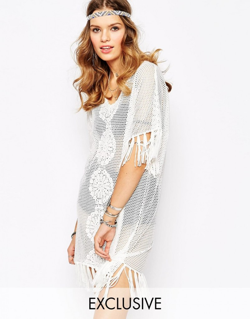 Violet Skye Tassel Crochet Dress With Fringing NOW £25.00 Click to visit ASOS