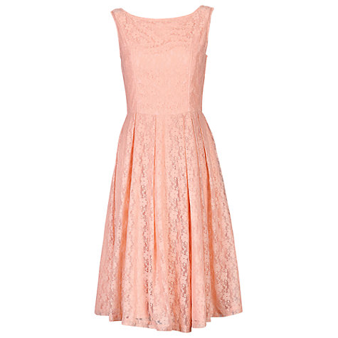 Jolie Moi 50s Audrey Lace Dress, Pink now £36 click to visit John Lewis