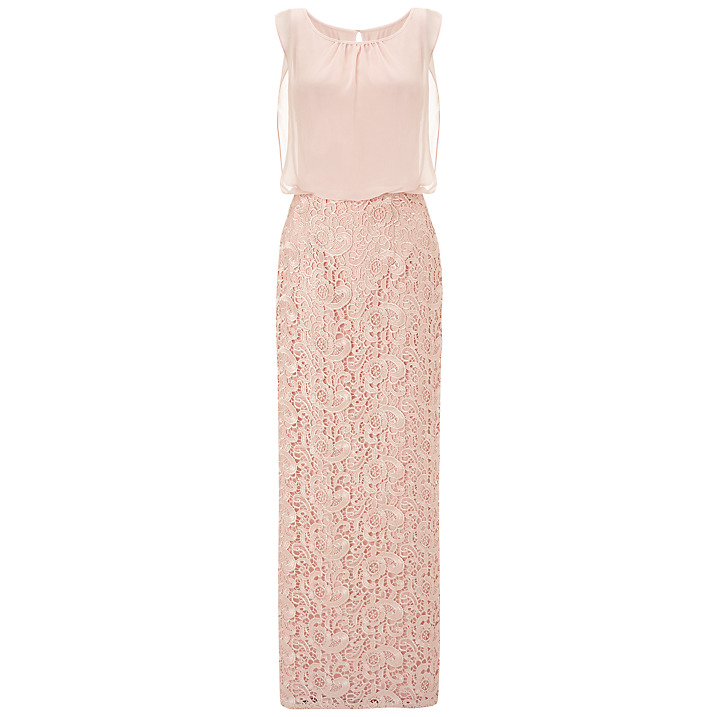 Aidan Mattox Chiffon Blouson Lace Gown, Petal Pink £220 click to visit John Lewis