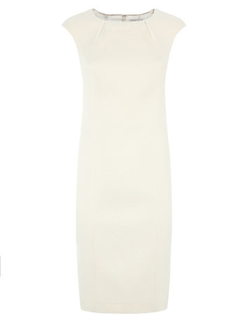 TEXTURED PEARL TRIM DRESS now £139.00 click to visit Jacques Vert
