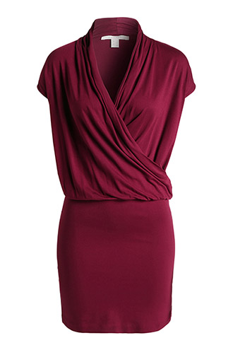 wrap-over effect stretch jersey dress £ 39.00 click to visit Esprit