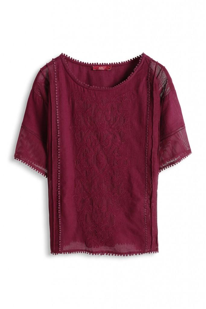 woven cotton blend t-shirt £ 39.00 click to visit Esprit