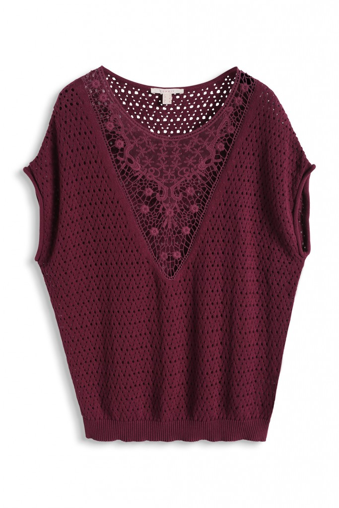 open-work, lace-trim sweater, 100% cotton £ 29.00 click to visit Esprit