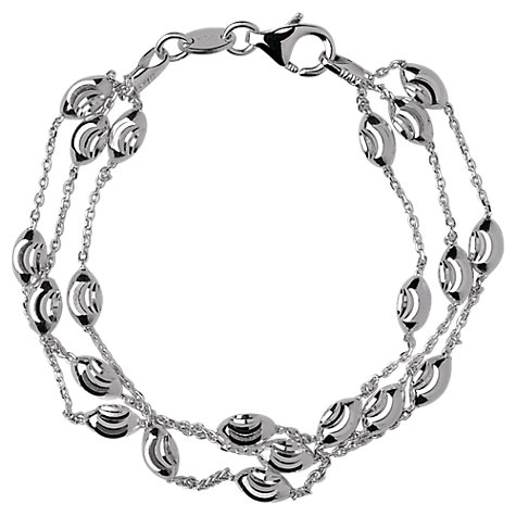 Links of London Silver Three Row Beaded Bracelet  £65 click to visit Joshua James