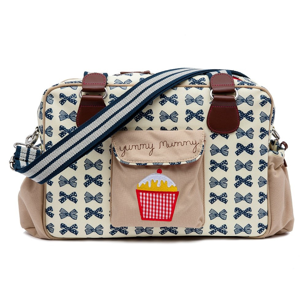 Pink Lining Yummy Mummy Changing Bag (Navy Bows) Changing Bags £79.00 Click to visit Babythingz