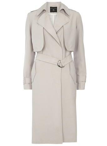 Light Grey Longline Mac     Price: £49.00 click to visit Dorothy Perkins