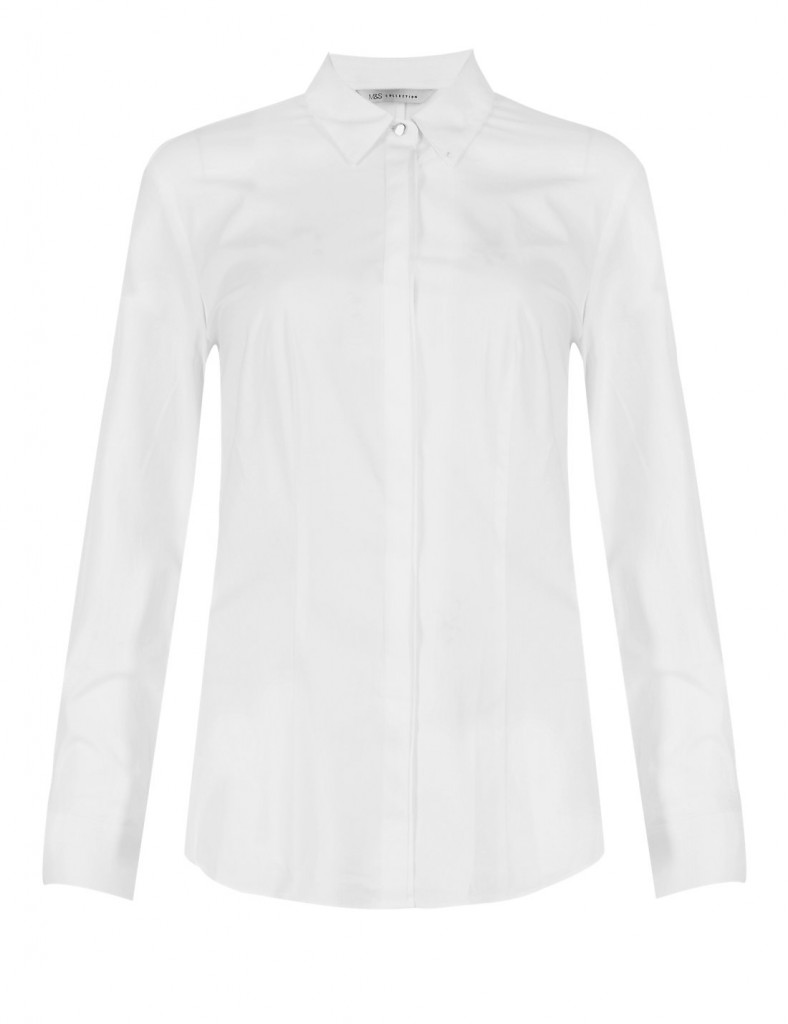 M&S COLLECTION No Peep™ Easy to Iron Pintuck Shirt £25.00 click to visit Marks and Spencer