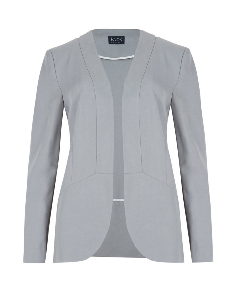 M&S COLLECTION Tencel® Open Front Slouch Blazer £49.50 click to visit Marks and Spencer