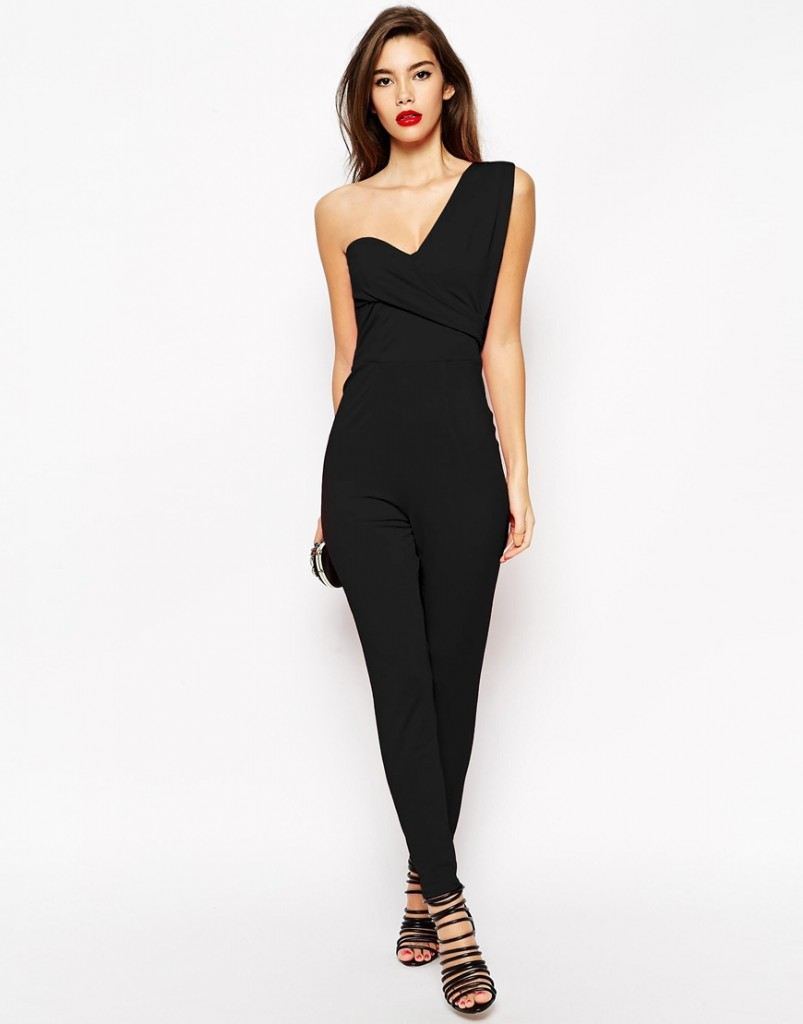 ASOS One Shoulder Drape Jumpsuit £38.00 click to visit ASOS