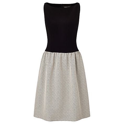 Bruce by Bruce Oldfield Jacquard Dress, Black/Silver £160 click to visit John Lewis