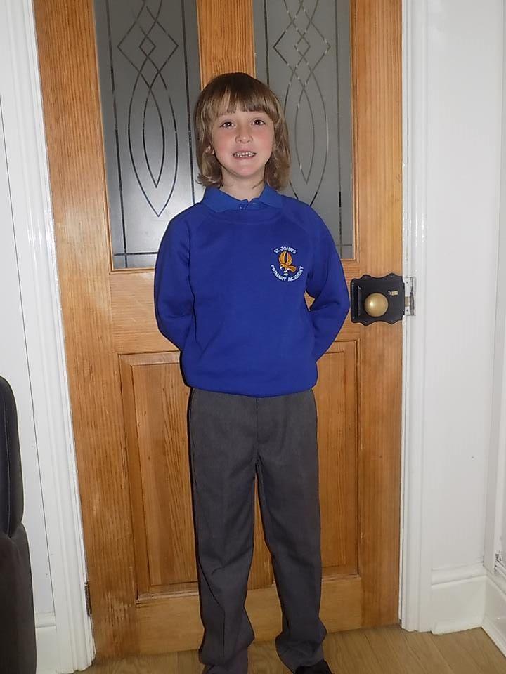 Joe starting a new school year this morning.