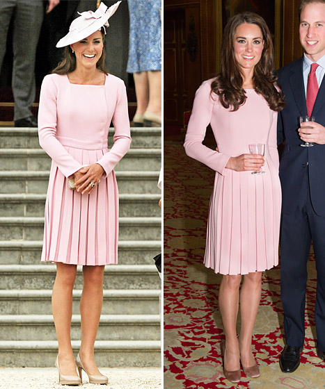 Kate wears the same dress, just with different styling
