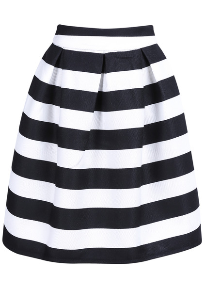 Striped Knee Length Skirt SKU:skirt141222153 In Stock GBP£15.44 GBP£8.05 (Sale) click to visit Romwe