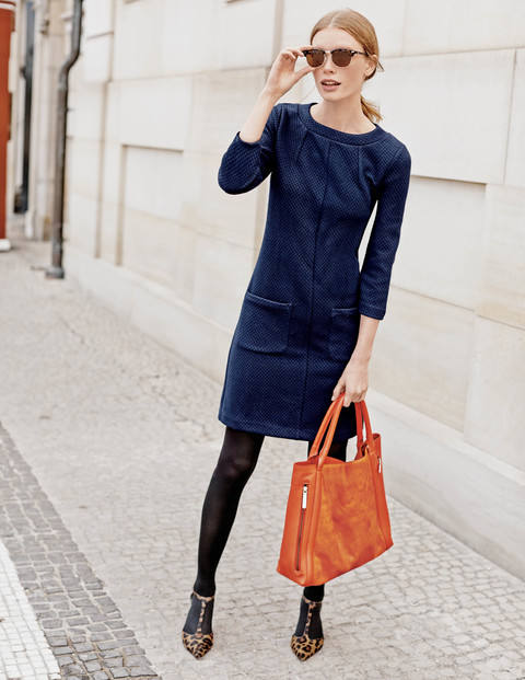 Abigail Jacquard Tunic Dress WH907 Was £79.00 Now £68.73 click to visit Boden