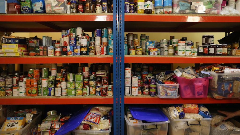 Emergency Food Banks Stretched As More And More People Struggle To Pay Their Bills