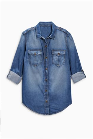 Blue/Black Denim Shirt £22 click to visit Next