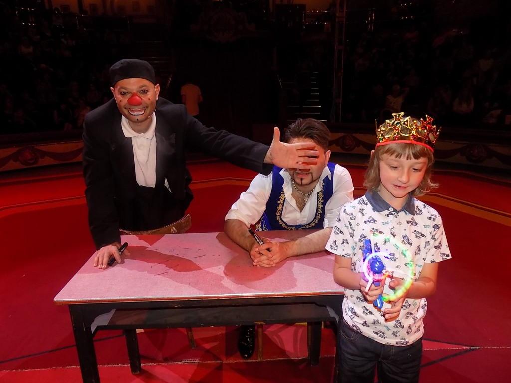 Joe with Mooki and Mr Boo at the Circus