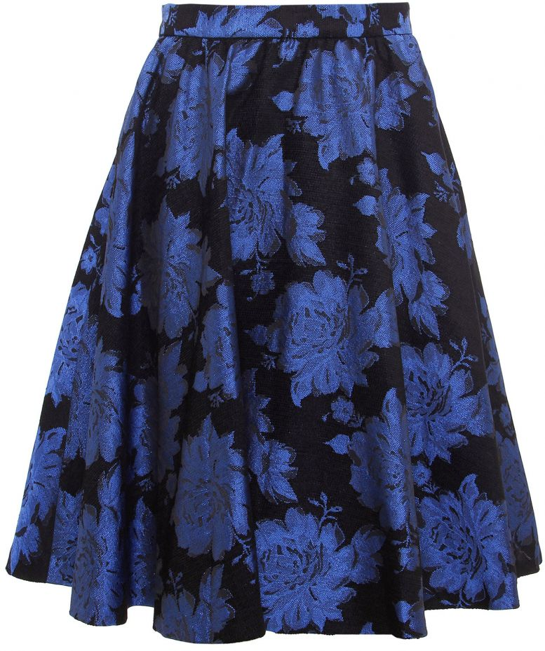 Alice + Olivia Rose Print Flare Skirt £264.99 click to visit Jules B