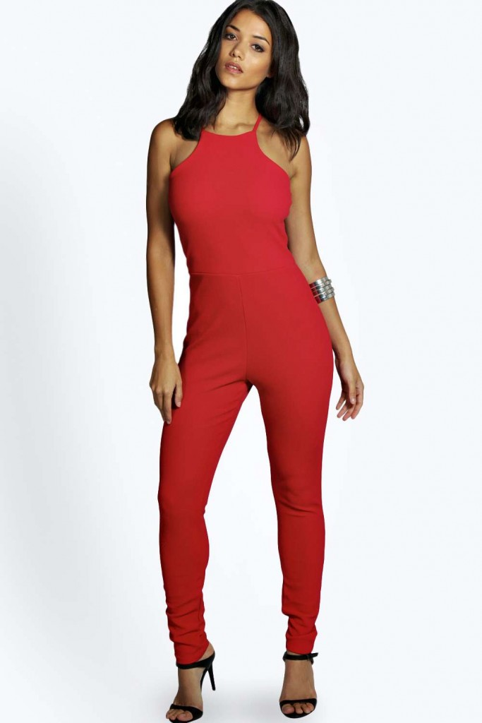 Taylor Textured Crepe Strappy Jumpsuit Product code: azz00549 £20.00 Click to visit Boohoo