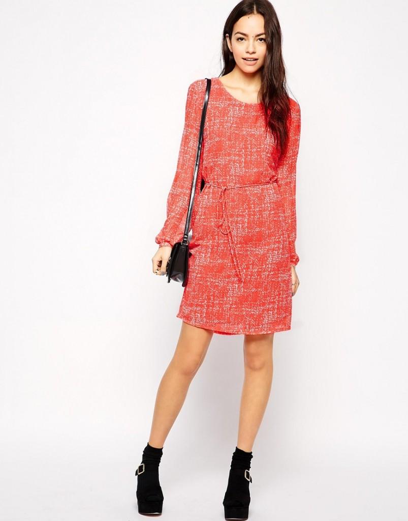 b.Young Long Sleeve Printed Dress £18.00 Click to visit ASOS