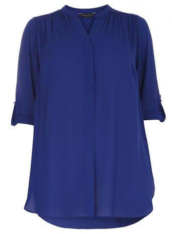DP Curve Cobalt Longsleeve Rollsleeve Blouse     Price: £24.00     Click to visit Dorothy Perkins
