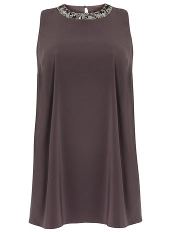 DP Curve Charchol Split Side Embellished Top     Price: £30.00 click to visit Dorothy Perkins