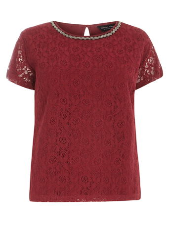 DP Curve Red Embellished Lace Top     Price: £22.00 click to visit Dorothy Perkins