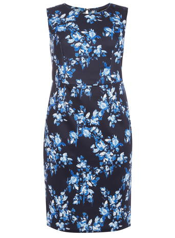 DP Curve Navy Floral Pencil Dress     Price: £30.00 click to visit Dorothy Perkins