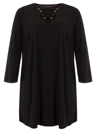 DP Curve Jersey Eyelet Swing Dress     Price: £25.00 click to visit Dorothy Perkins