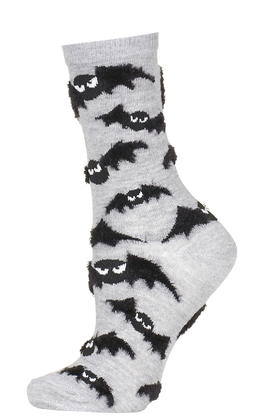 Fluffy Bat Halloween Socks     Price: £3 Click to visit Topshop