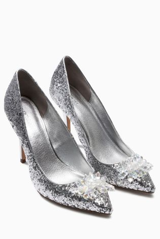 Jewel Trim Silver Glitter Points £45 click to visit Next