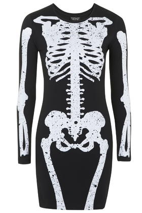 Skeleton Print Mini Dress     Price: £28 click to visit Topshop