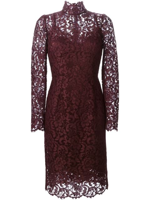 Dolce & Gabbana floral lace midi dress £1,850.00 click to visit Farfetch