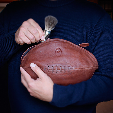 Leather Rugby Wash Bag     £29.99 click to visit Qwerkity