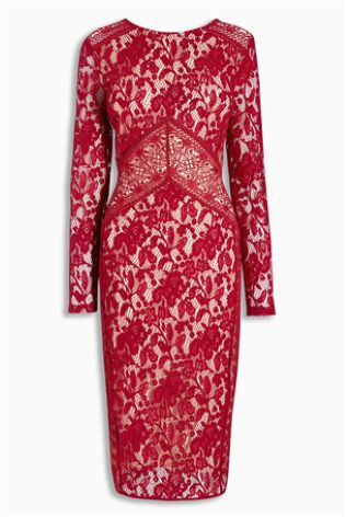 Lace Bodycon Dress £60 click to visit Next