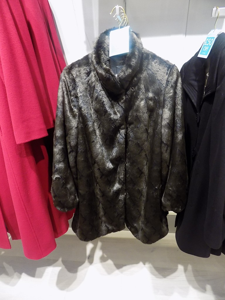 TEXTURED FAUX FUR COAT  £199.00 click to visit Jacques Vert